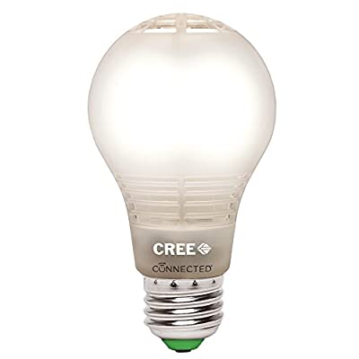 Cree BA19-08050OMF-12CE26-1C110 Connected 60W Equivalent Daylight (5000K) A19 Dimmable LED Light Bulb