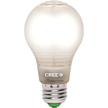 Cree BA19-08027OMF-12CE26-1C100 Connected 60W Equivalent Soft White (2700K) A19 Dimmable LED Light Bulb, Works with Amazon Alexa
