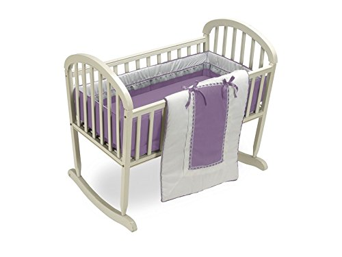 Baby Doll Bedding Royal Cradle Bedding Set, Lavender 535cr36