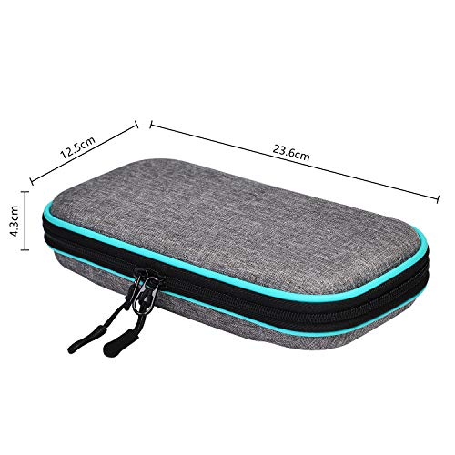 Carry Case for Nintendo Switch Lite - LOGROTATE Portable Hard Shell Travel Carrying Bag, Switch Lite Waterproof Case Cover with storage for Switch Lite Console & Accessories & Game Cards, Turquoise