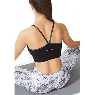 FITTIN Cross-Over Sports Bra - Padded Seamless for Yoga Workout at Women's Clothing store