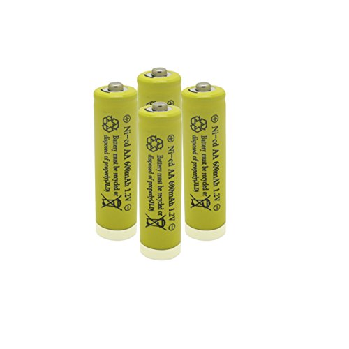 GEILIENERGY 4 Pieces Set Yellow Color AA Size NiCd 600mAh 1.2V Rechargeable Battery For Solar Lamp Solar light