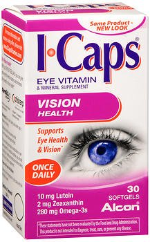 ICAPS Vision Health, Eye Vitamin & Mineral Supplement - 30 Softgels, Pack of 6 by ICaps