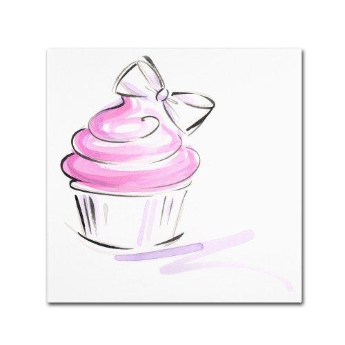 Cupcake 2 by Jennifer Lilya, 14x14-Inch Canvas Wall Art