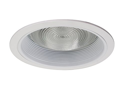 NICOR Lighting 6-Inch Recessed Baffle Trim with 1-Inch Trim Ring, White (17511-1)