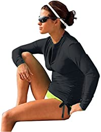 Women's UV Sun Protection Long Sleeve Rash Guard Wetsuit...