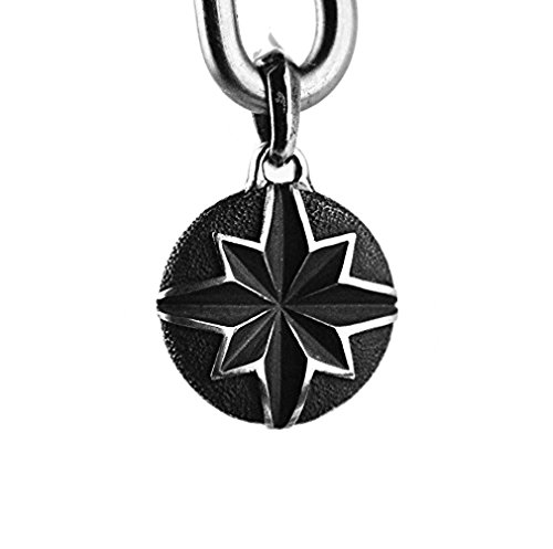 david-yurman-solid-sterling-silver-north-star-coin-amulet-pendant-new-610-box