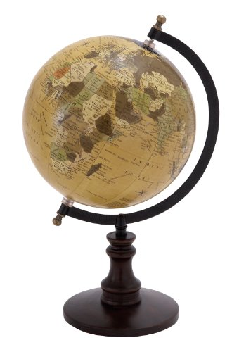 Deco 79 Globe with Metal & Wooden Details ()