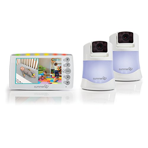 Summer Infant 29623 Side By Side 2.0 Split-screen Video Monitor Set