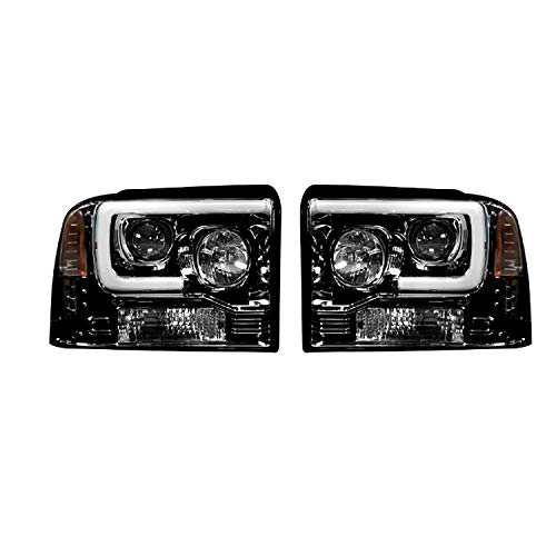 RECON 264193BKC Ford Superduty For 05-07 F250/F350/F450 PROJECTOR HEADLIGHTS