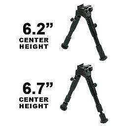 UTG New Gen Med Pro Shooters Bipod, Quick Detach, 6.2\