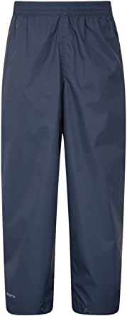Mountain Warehouse Protectores Impermeables para niños Pakka - Pantalón con Costuras Selladas - Tobillo Ajustable - Pantalones Plegables para Lluvia - para la Escuela