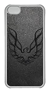 iPhone 5C Case, iPhone 5C Cases - Anti-Scratch Crystal Clear Back Bumper for iPhone 5C Firebird Car Logo 7 Shock-Absorption Hard Case for iPhone 5C
