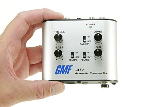 GMF Ai1 Acoustic Preamp and D.I. - Direct Box For Guitar and Other Acoustic Instruments - 3in1 Analog DI Box, Direct To Amp Preamp and EQ, Headphone (Bass Guitar Direct Boxes)