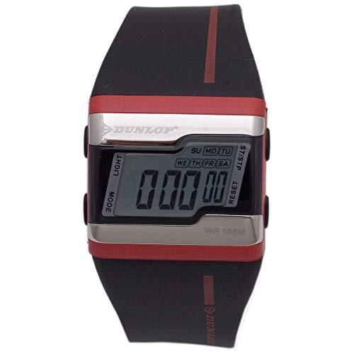 Dunlop Digital Watch Mens DUN154M07 Silver/Red Quarzt