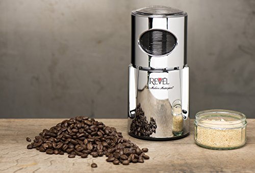 Revel CCM104CH Chrome Wet and Dry Coffee Spice Grinder, 220 Volts (Not for USA - European Cord) by Revel (Image #1)