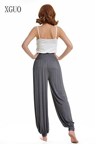 Stong Pantalones de yoga para mujer, danza, super suave gris oscuro
