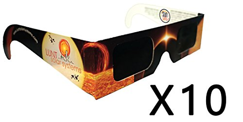 10 Pack Premium Iso And Ce Certified Lunt Solar Eclipse Glasses