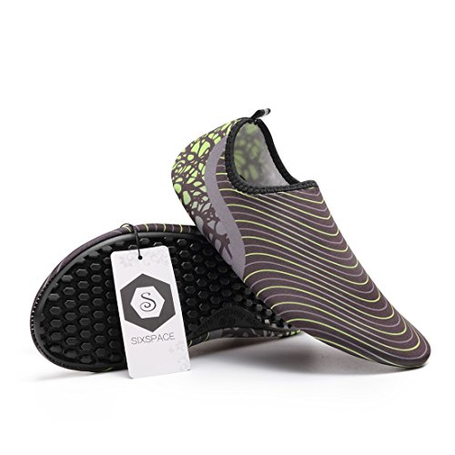 Schwimmschuhe Schuhe 02 Schwarz Atmungsaktiv für Badeschuhe Strandschuhe Rutschfeste Damen Herren Leicht Sixspace Aquaschuhe Barfuß xwRtqF8O