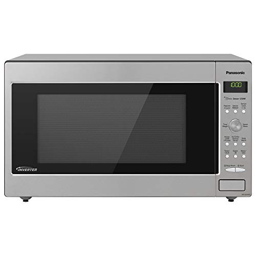 (Panasonic Microwave Oven NN-SD945S Stainless Steel Countertop/Built-In with Inverter Technology and Genius Sensor, 2.2 Cu. Ft, 1250W)