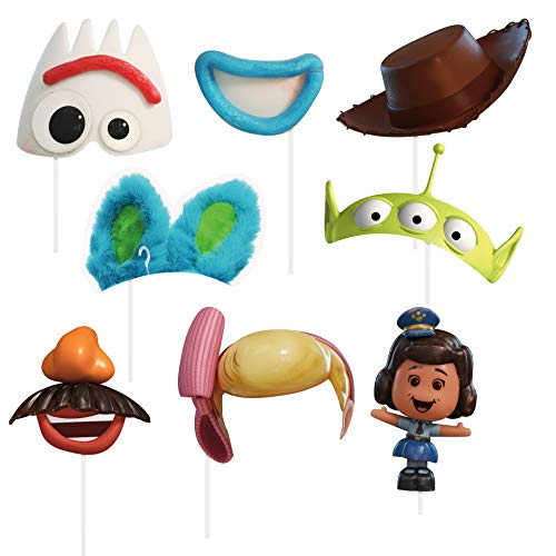 Unique Industries Disney Toy Story 4 Movie Photo Booth Props - 8 Per Pack -