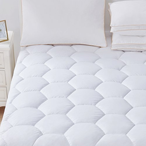 Mattress Pad Cover California King Size - Hypoallergenic Qui