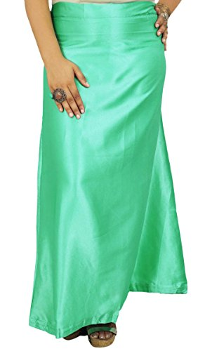 ibaexports Indian Satin Silk Petticoat Bollywood Solid Inskirt Lining For (Satin Petticoat)