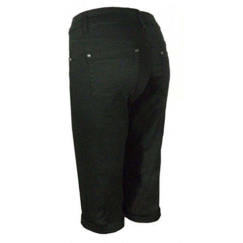 Pantacourt DW2468 - couleur : noir - Taille : 50