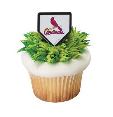 MLB St Louis Cardinals Cupcake Rings - 24 pcs ()