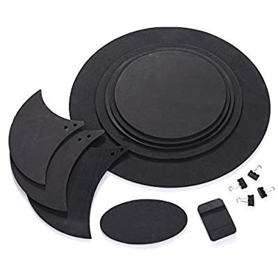 ULKEME 10pcs Bass Snare Drum Sound Off Mute Silencer Drumming Rubber Practice Pad Set from ULKEME