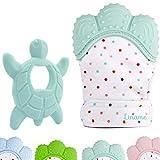 Liname Teething Mitten for Babies & Teething Toy - Safe (BPA Free), Washable & Durable Teething Mitt...