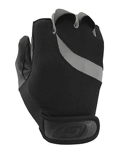 Damascus Protective Gear DWP200SM Dgear Mobility Wheelchair Para-Push Gloves, Small, Black/Gray