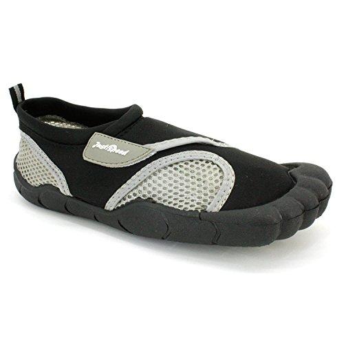 Just Speed Herren Aqua Schuhe Aqua Socken-Max Slip Resistances & Feet Schutz, um die Leistung zu verbessern Schwarzgrau