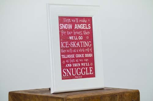 Buddy The Elf Snow Angels Framed Art Winter Movie Framed 13x16 Picture