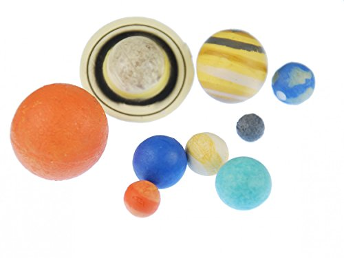 9 pcs Planet Figure Figures figurines Monoblocks Miniblings Rubber Planet Earth sun mars Solar System by Miniblings by Miniblings