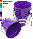 "Italia 6-Pack Metal Bucket 1.5 Quart Color Purple Size 5.6 X 6"" 6-Pack"