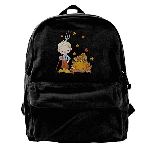 AiguanCartoon Child Specially Black Canvas Backpack for sale  Delivered anywhere in USA