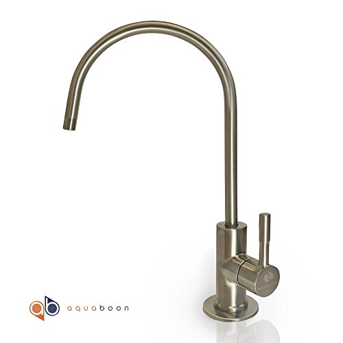 Aquaboon Water Filter Purifier Faucet European Style Brushed (Ro Water Purifiers)