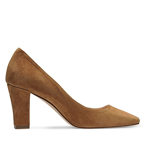 Shoes Scarpe Donna Evita Tacco Marrone cognac Col F6nwS1Tq