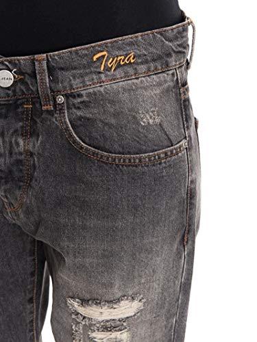 Donna Grigio Cotone Pinko Jeans 1j1080y41zi89 1xR00U