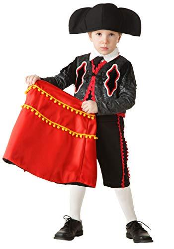 Toddler Matador Costume 4T Black,Red -