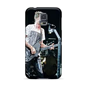 Scratch Protection Hard Phone Cases For Samsung Galaxy S5 (OiB395bwoG) Support Personal Customs Beautiful Muse Band Skin