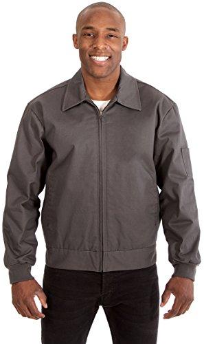 Men's Mechanics Style Work Jacket (XXL, Charcoal)