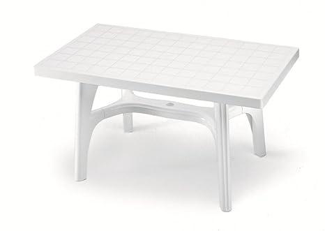 Table rectangulaire pour extérieur, table résine 140 x 80 ...