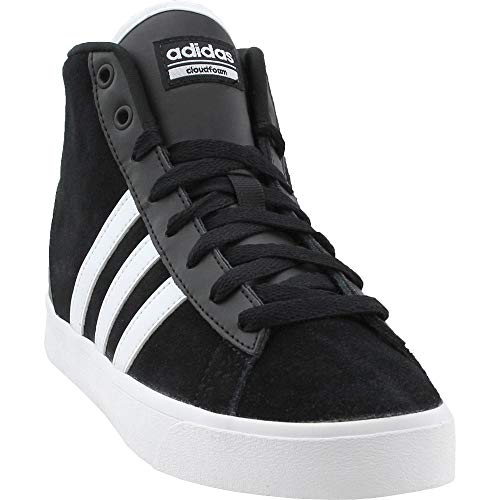 adidas NEO Women's CF Daily QT Mid W Sneaker, Black/White/Super Pink, 6.5 Medium US (Adidas Performance Womens Sellwood W Fashion Sneaker)