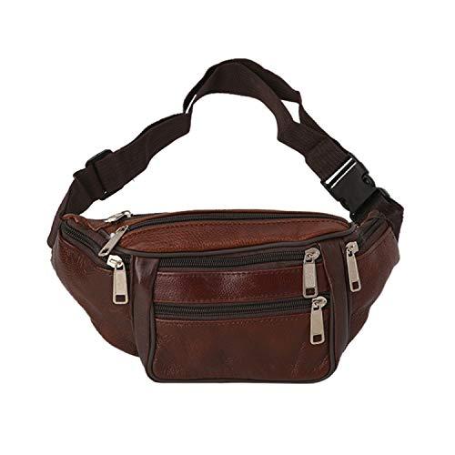 Roselv Fanny Pack - Running Exercise Belt Waist Fanny Pack Belt Bag Pouch Travel Hip Purse Men Women Waist Bag Brown ()