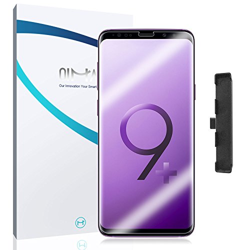 2-Pack Samsung Galaxy S9 Plus Screen Protector, QiMai Invisible+ [Guide Tool Easy Install] HD [100% Case-Friendly] Ultra-Thin Screen Film for Galaxy S9+(2018)
