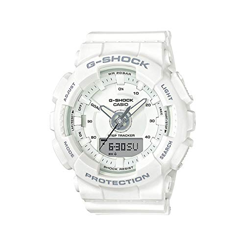 - Ladies' Casio G-Shock S-Series White Step Tracker Watch GMAS130-7A