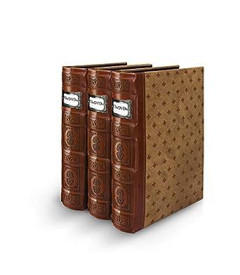 Bellagio-Italia - Archivador para CD/DVD (piel), color marrón: Amazon.es: Amazon.es