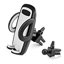 BE Universal Smartphones Car Air Vent Mount Holder Cradle Compatible with iPhone 7 7 Plus SE 6s 6 Plus 6 5s 5 4s 4 Samsung Galaxy S6 S5 S4 LG Nexus Sony Nokia and More (Black)